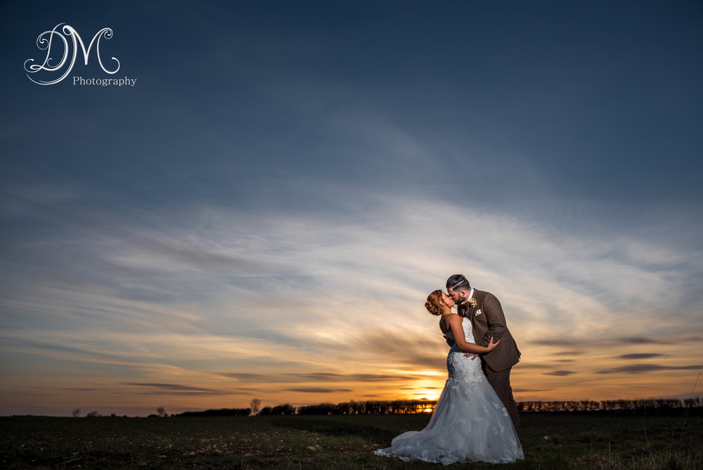 Tithe Barn, Sunset Wedding Photography