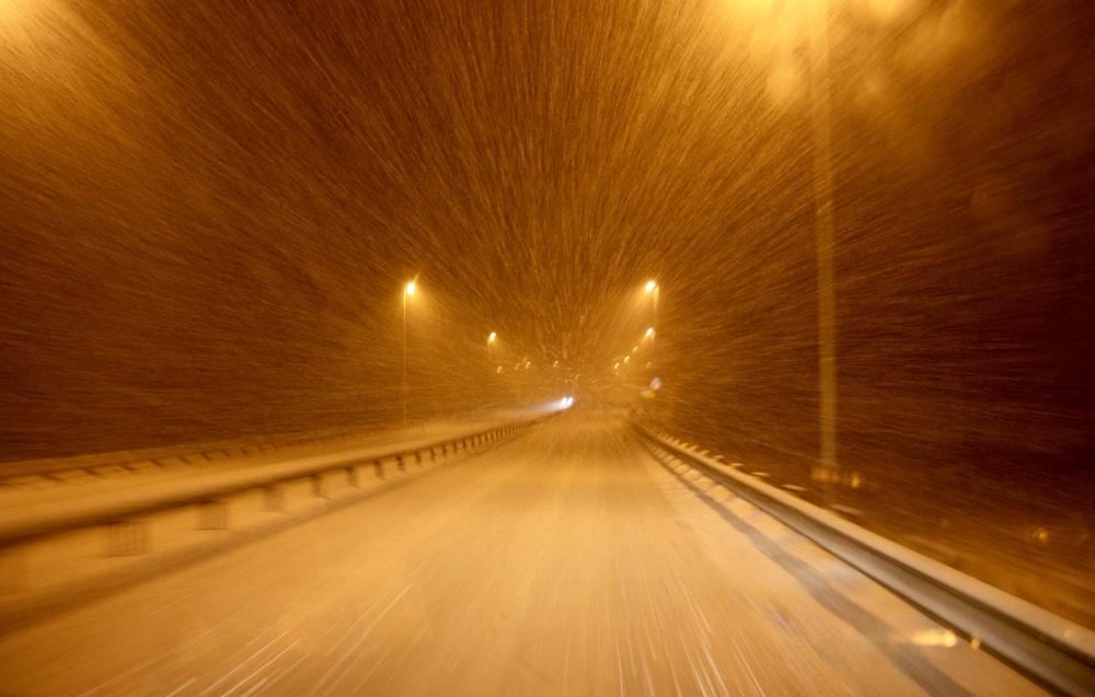 Vel ute av Notodden lavet snøen ned..