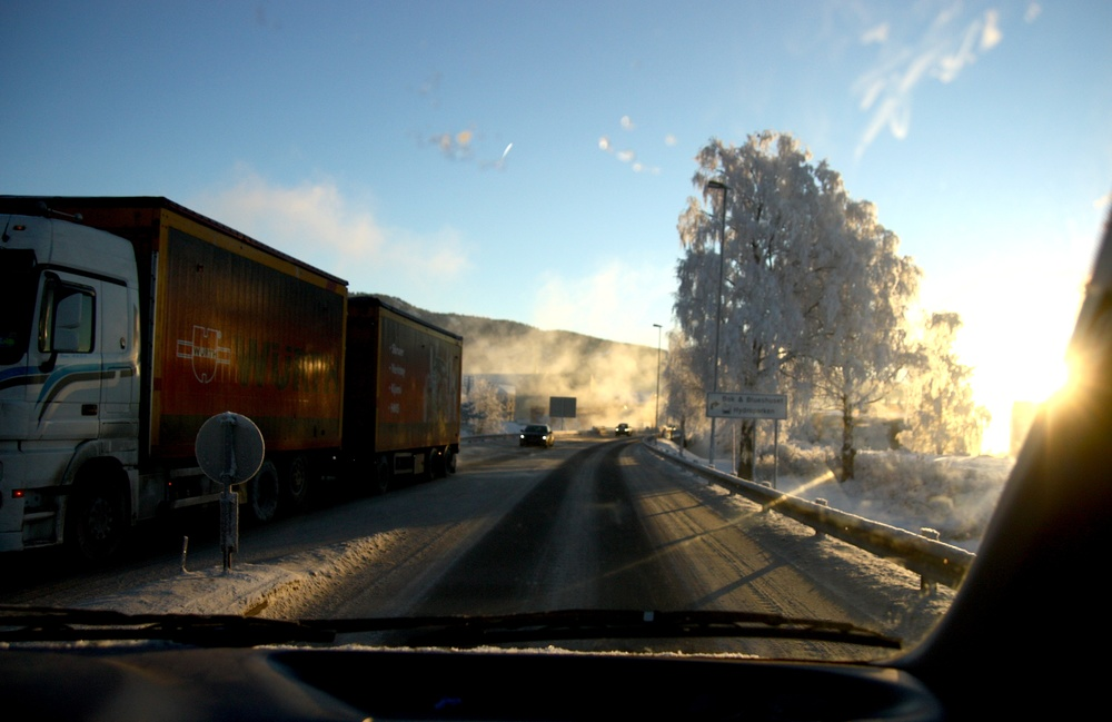 Et Notodden badet i solskinn på avreisedag til Namsos.