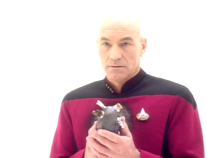 Captain Picard, from Star Trek the Next Generation, has an artificial heart.
