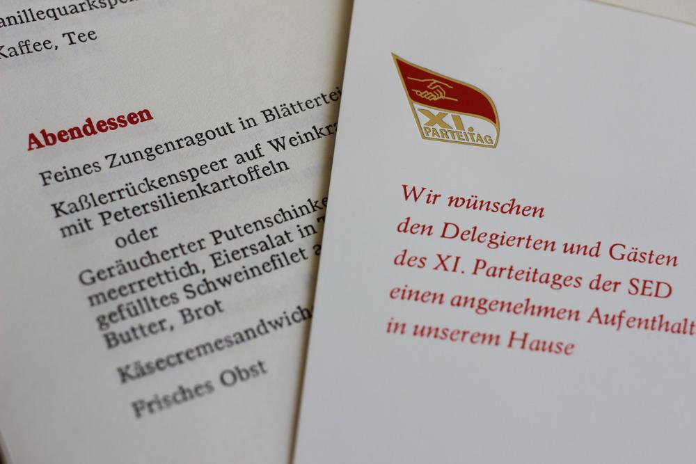 Palastspeisekarte: Roland Albrecht ließ aufkochen. Doch Honecker war nicht zum Genießen geboren - er bestellte immer nur Kassler.
