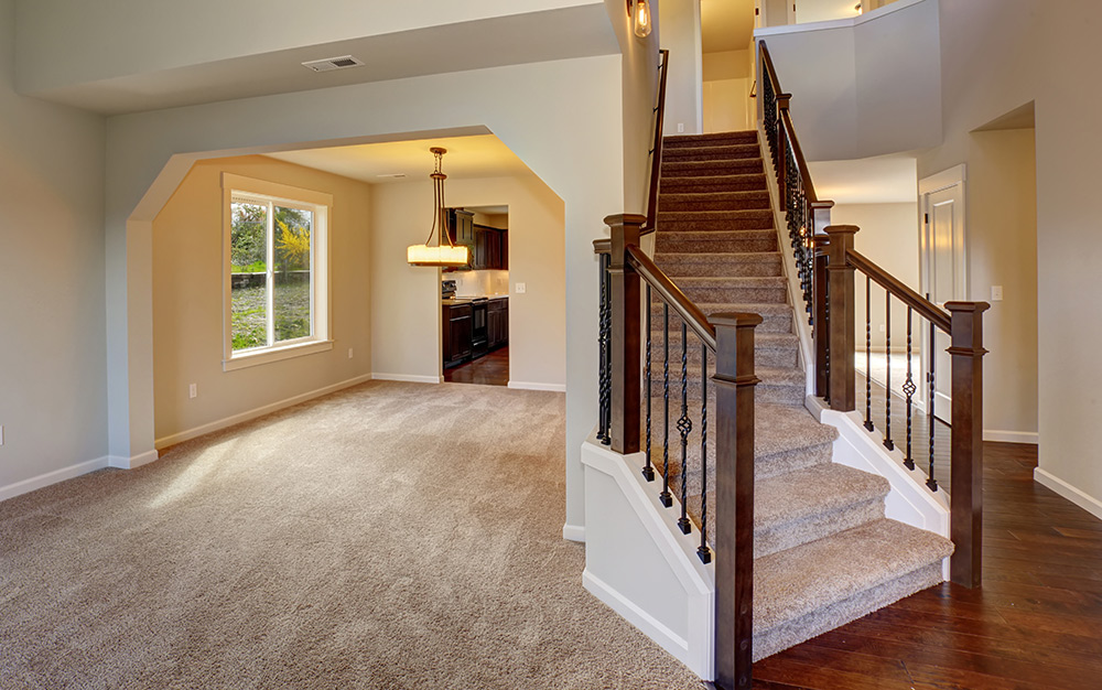 Carpet Cleaning - 37¢ per sq. ft.$3.00 per step$6.00 per small landing (3x3 sq. ft.)