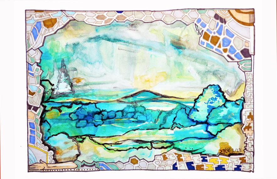 """Rolling Hills"" by Virginia Palyka $1000"