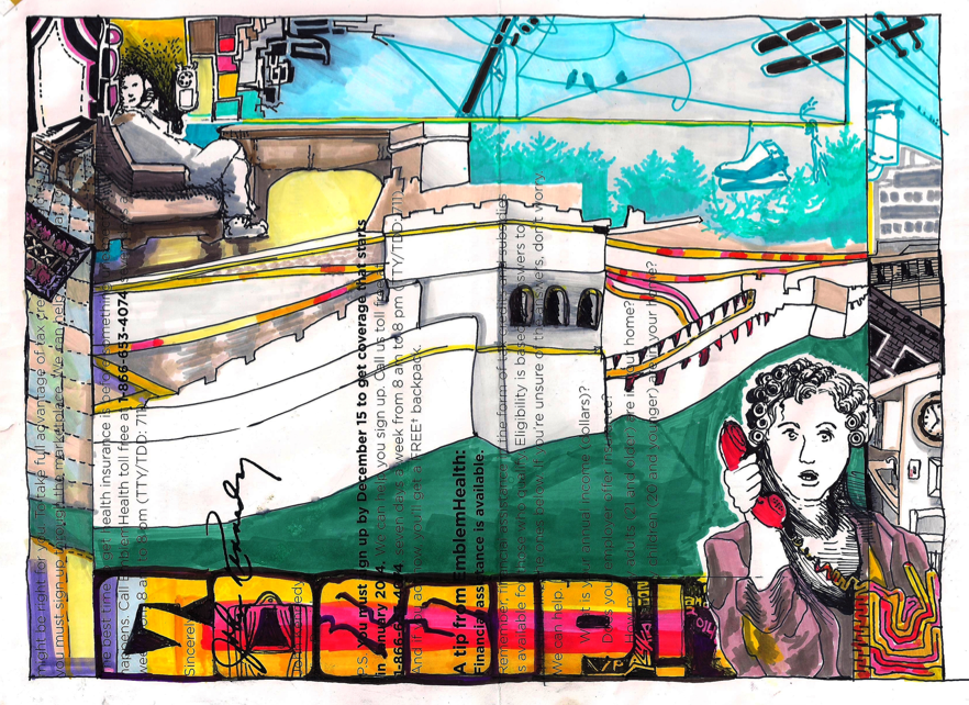 """GOSSIP"" by Virginia Palyka $1600"