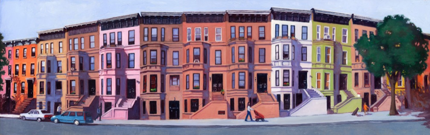 """""""Multicultural Street"""" by Maria Jimenez $2000"""