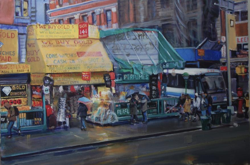 """""""Canal Street"""" by James Harrington $1800"""