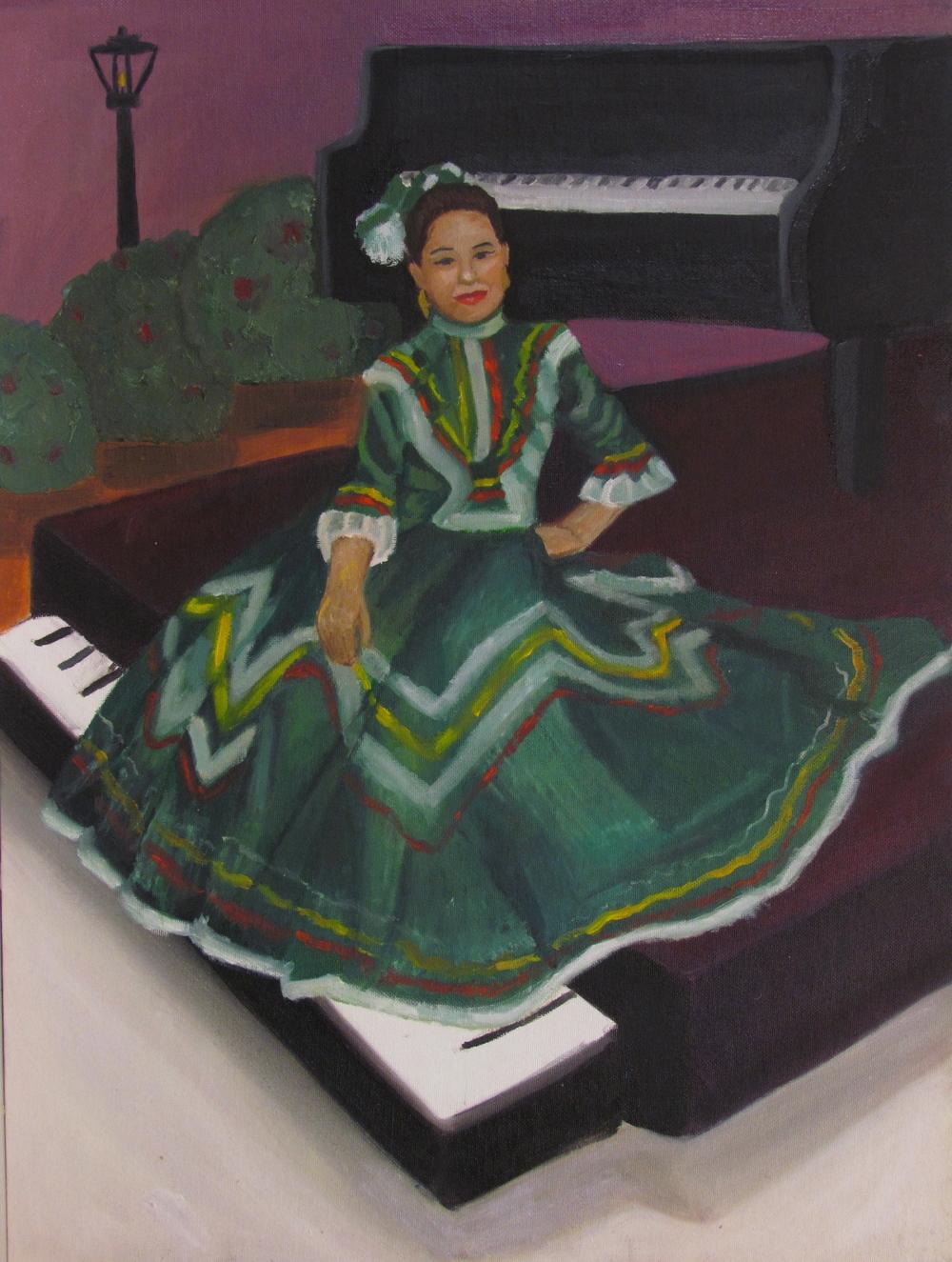 """""""La Pianista"""" by Salma Cortes $150"""