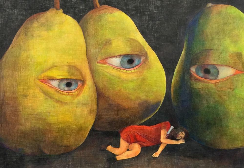 """Pears of Eyes"" by Shekinah Guab $600"