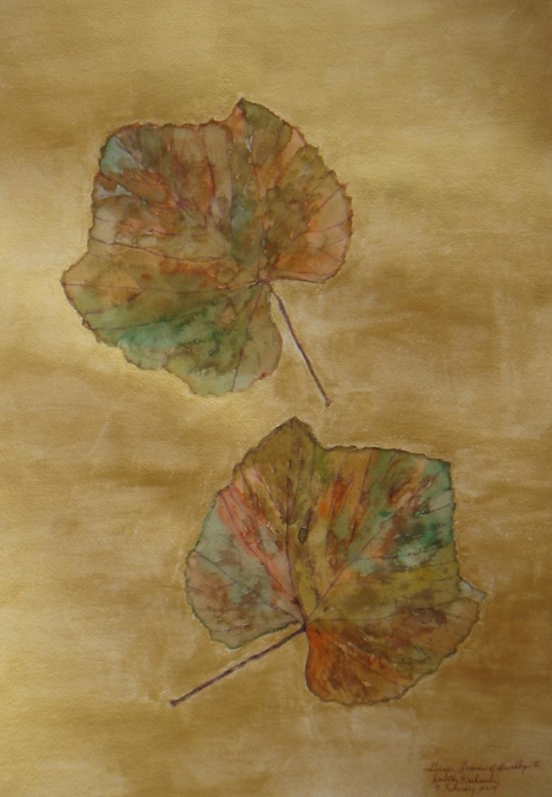 """Grape Leaves of Brooklyn II"" by Dorothy Krakauer $1000"