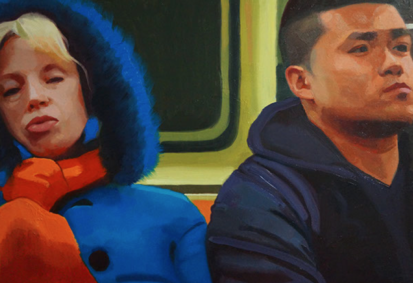 """""""Daydreamers on the Subway"""" by Devon Rodriguez $500"""