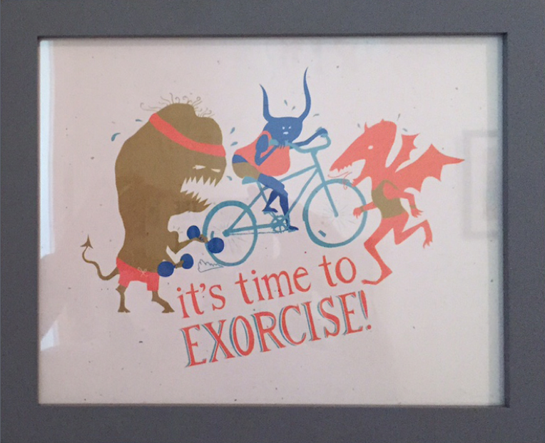 """""""Time to Exorcise"""" by Heather Heckel $30"""