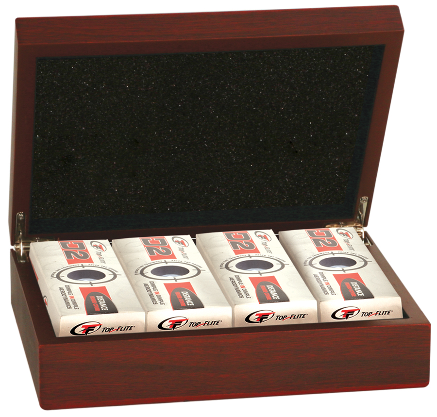 Rosewood Finish Golf Ball Box  >>  starts at $19.95
