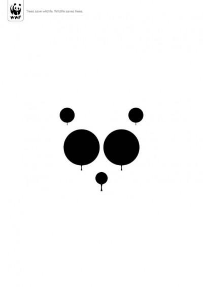 trees and panda