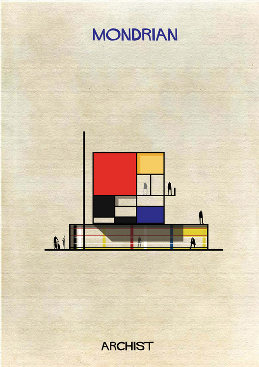 Mondrian Art as Architecture