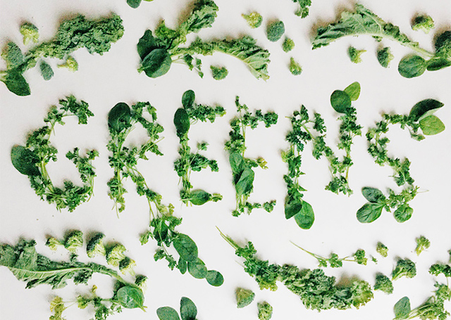 Food lettering by Becca Clason