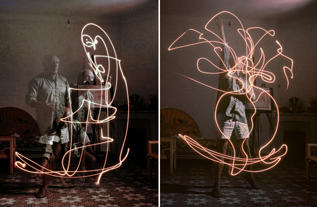Pablo Picasso paints with light
