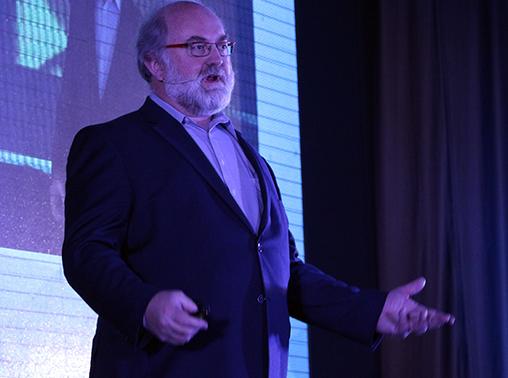 Thomas Frey durante su conferencia en el CIIE 2015.