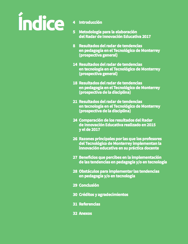 Radar de Innovación Educativa 2017