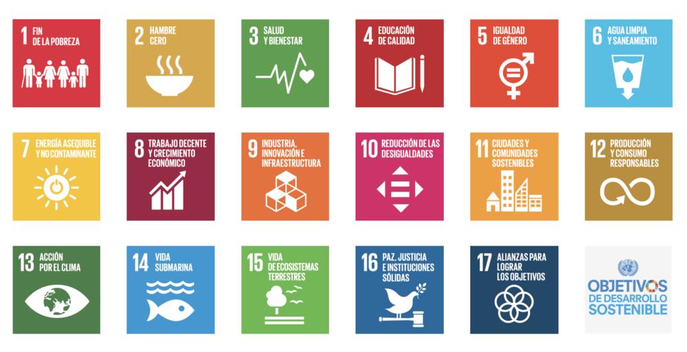 Objetivos de Desarrollo sostenible: 17 objetivos para transformar nuestro mundo / Organización de las Naciones Unidas.