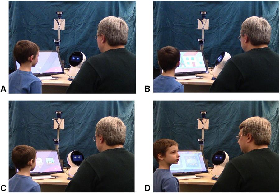 Terapia de TEA con ayuda de robot social.  Imagen: Universidad Yale.