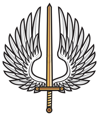 Sword And Wings Symbol