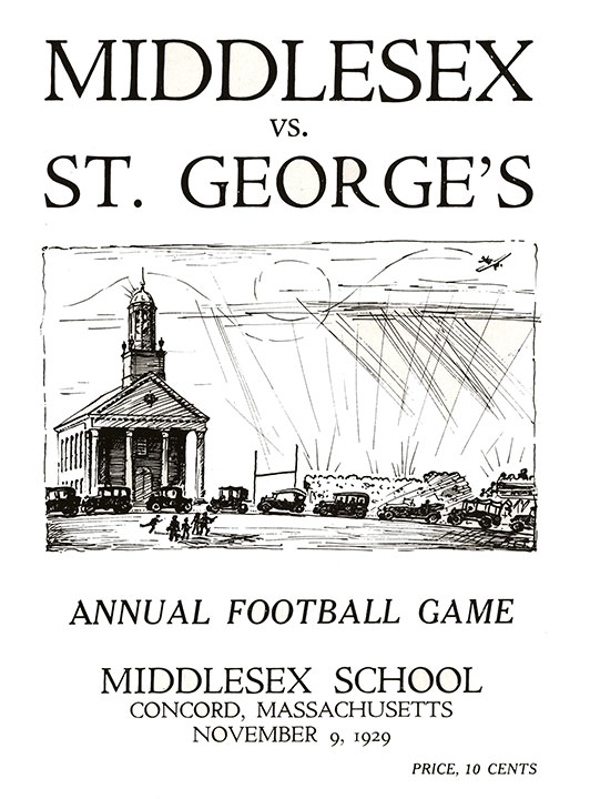 "<div class=""ch"">Game Day drawing by Edwin B. Sears '30</div>"