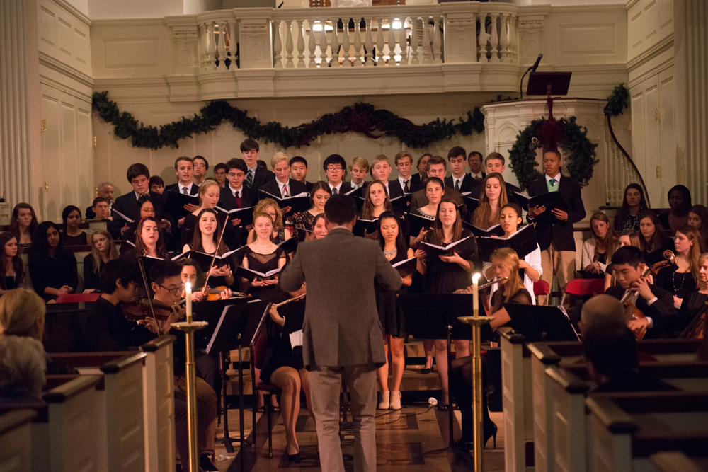 Pierson Wetzel leads the 2013 Holiday Concert