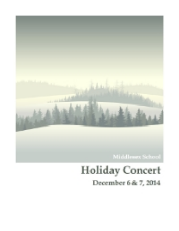 The 2014 Holiday Concert Cover