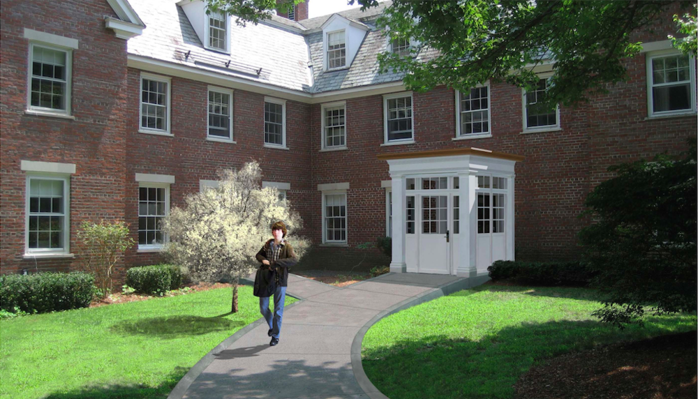 Renovations to Clay House include a central entrance, as well as additional housing for students and faculty.