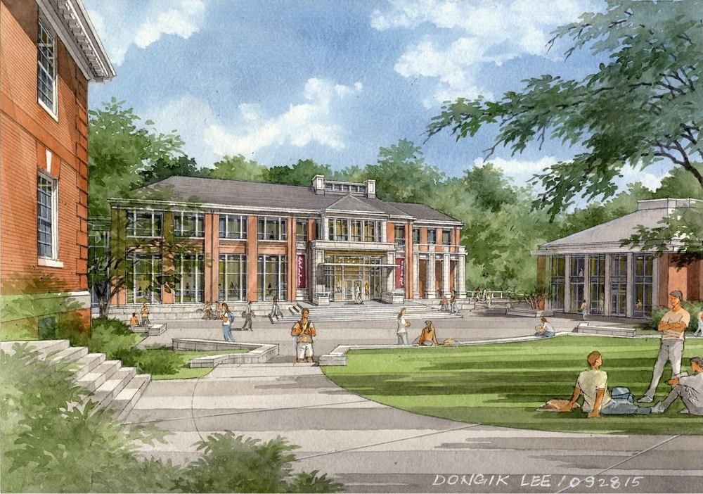 The new Theatre and Visual Arts building will complement a refurbished courtyard.