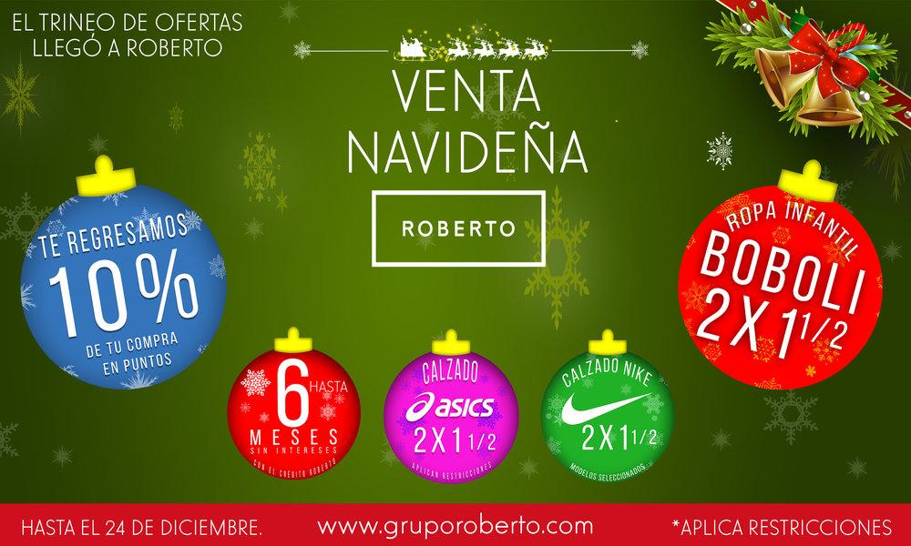 Venta Navideña - Hasta el 24 de Diciembre del 2018