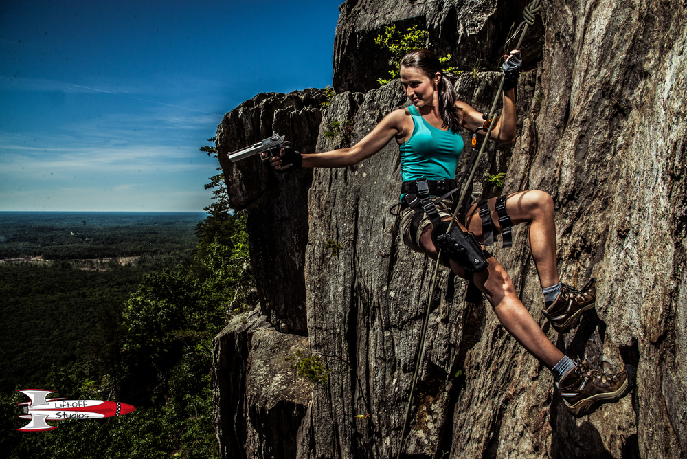 Tomb Raider inspired - Shot on Location 70+ feet about the ground at Crowder's Mountain, NC.