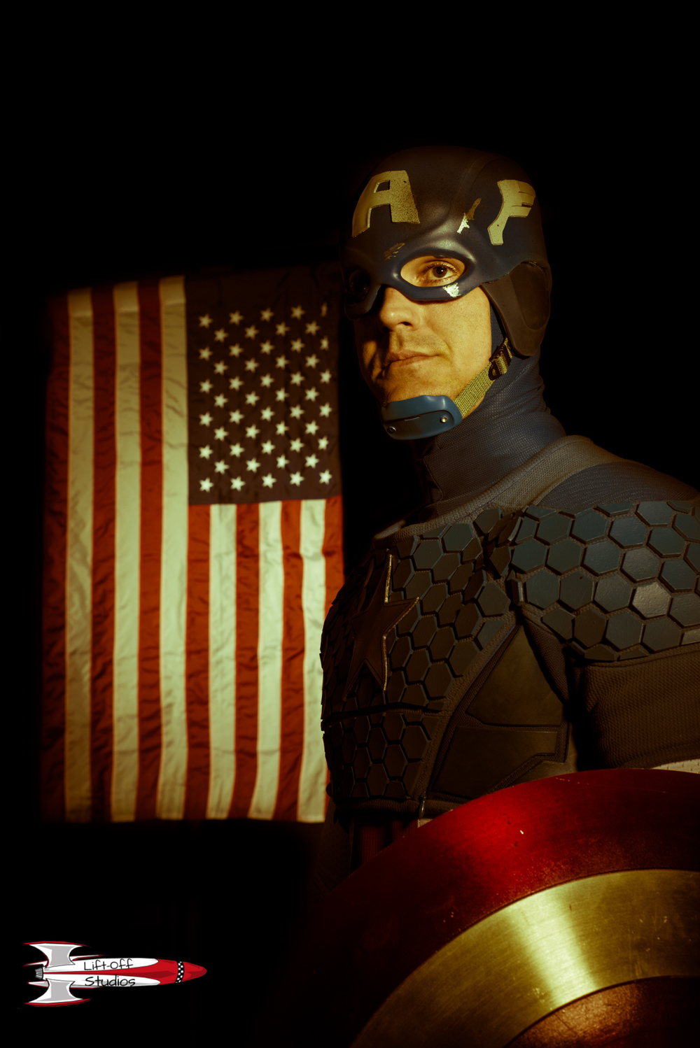 Captain America inspired - Shot in my studio - Cosplayer Mike Powell