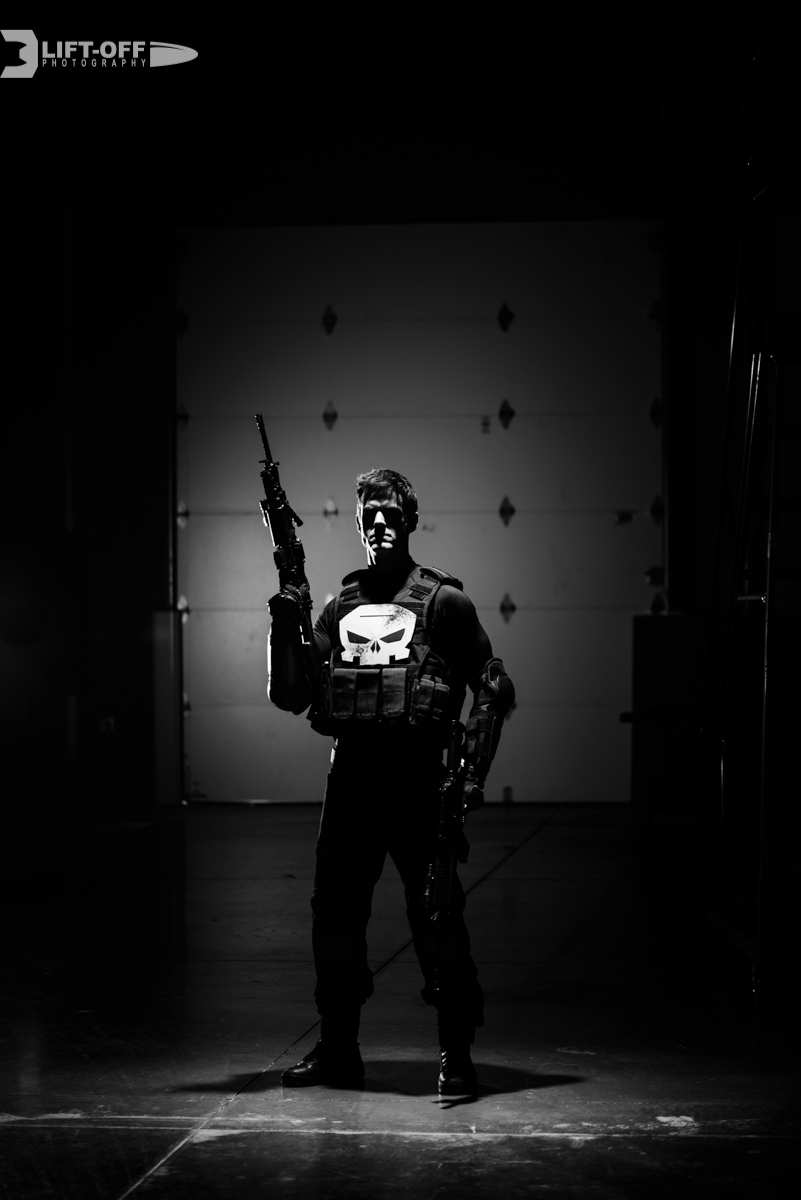 The Punisher inspired - Shot in my studio - Cosplayer Mike Powell