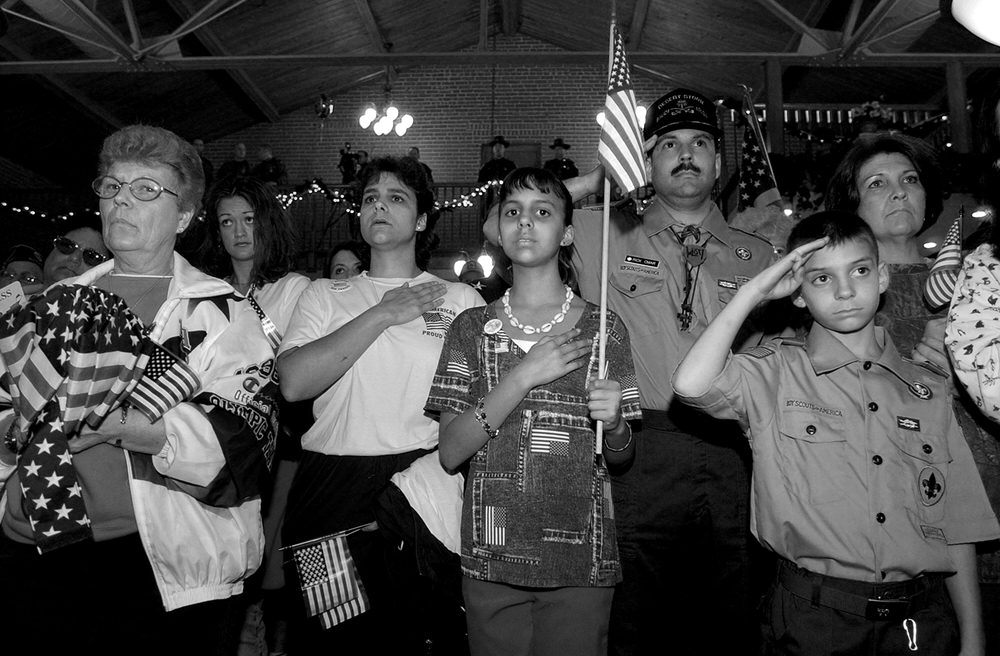 Rally supporting invasion of Iraq, 2003, Ohio, USA