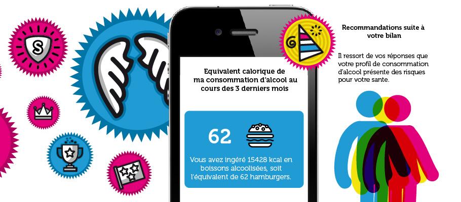 Conception d'une application mobile ludique pour favoriser une prise de conscience de la consommation d'alcool.