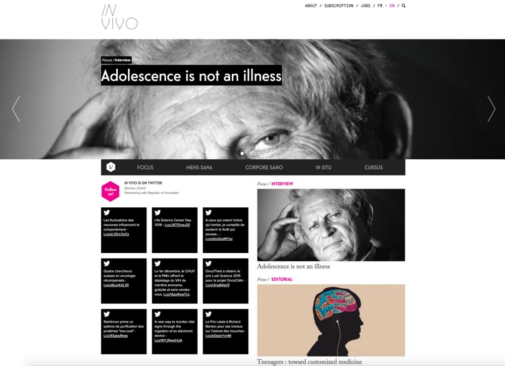Création d'un magazine online pour le CHUV
