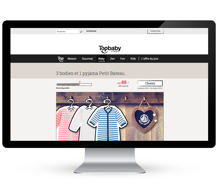 Topdeal - site e-commerce  >   Branding, positionnement, design et optimisation conversion #responsive #design #eCommerce #personas #stratégie #illustrations