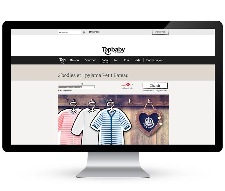 Topdeal - site e-commerce >     Branding, positionnement, design et optimisation conversion   #responsive #design #eCommerce #personas #stratégie #illustrations