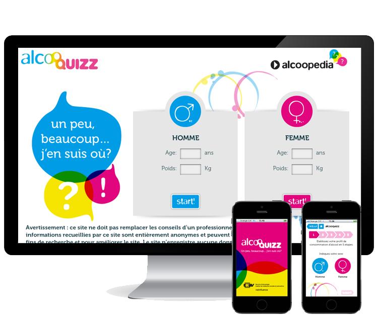 Alcooquizz - CHUV  >     Design d'un site et d'une application mobile pour la prévention   #iphone #android #symfony #gamification #jeu #design