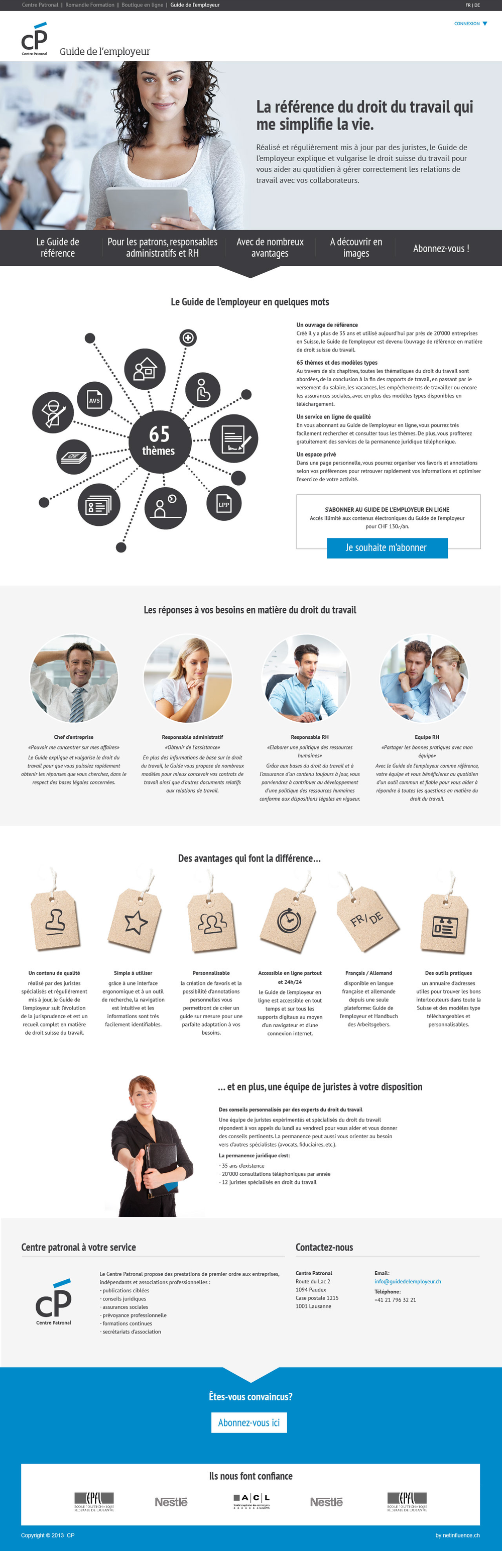 centre patronale guide de l'employeur - par netinfluence