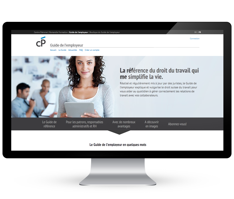 Guide de l'employeur |  Centre Patronal   >  Design, UX & Développement #responsive #design #UX #UI #userExpérience #prestashop #Typo3
