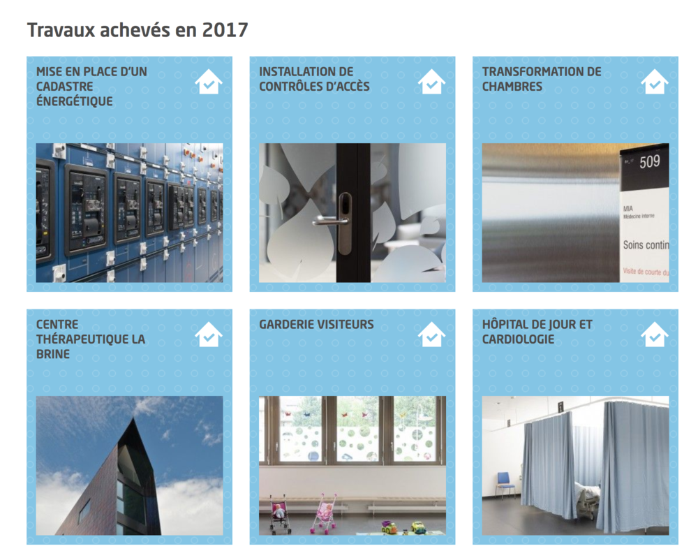 Affichage de la liste des constructions (collection)