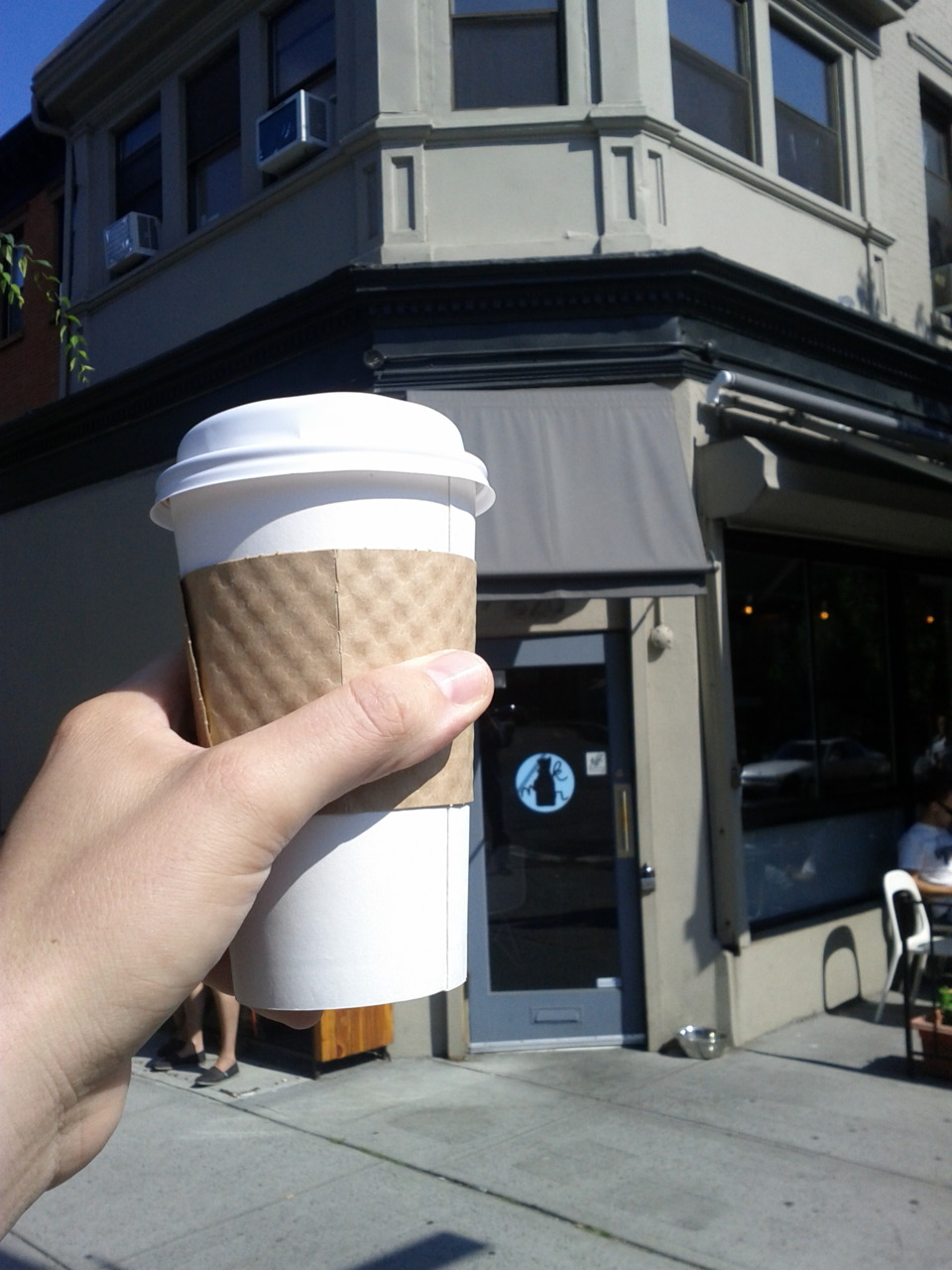 Mawnin' coffee from Milk Bar in Prospect Heights. $2.75 never tasted so good!