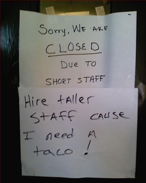I also am in dire need of a taco.
