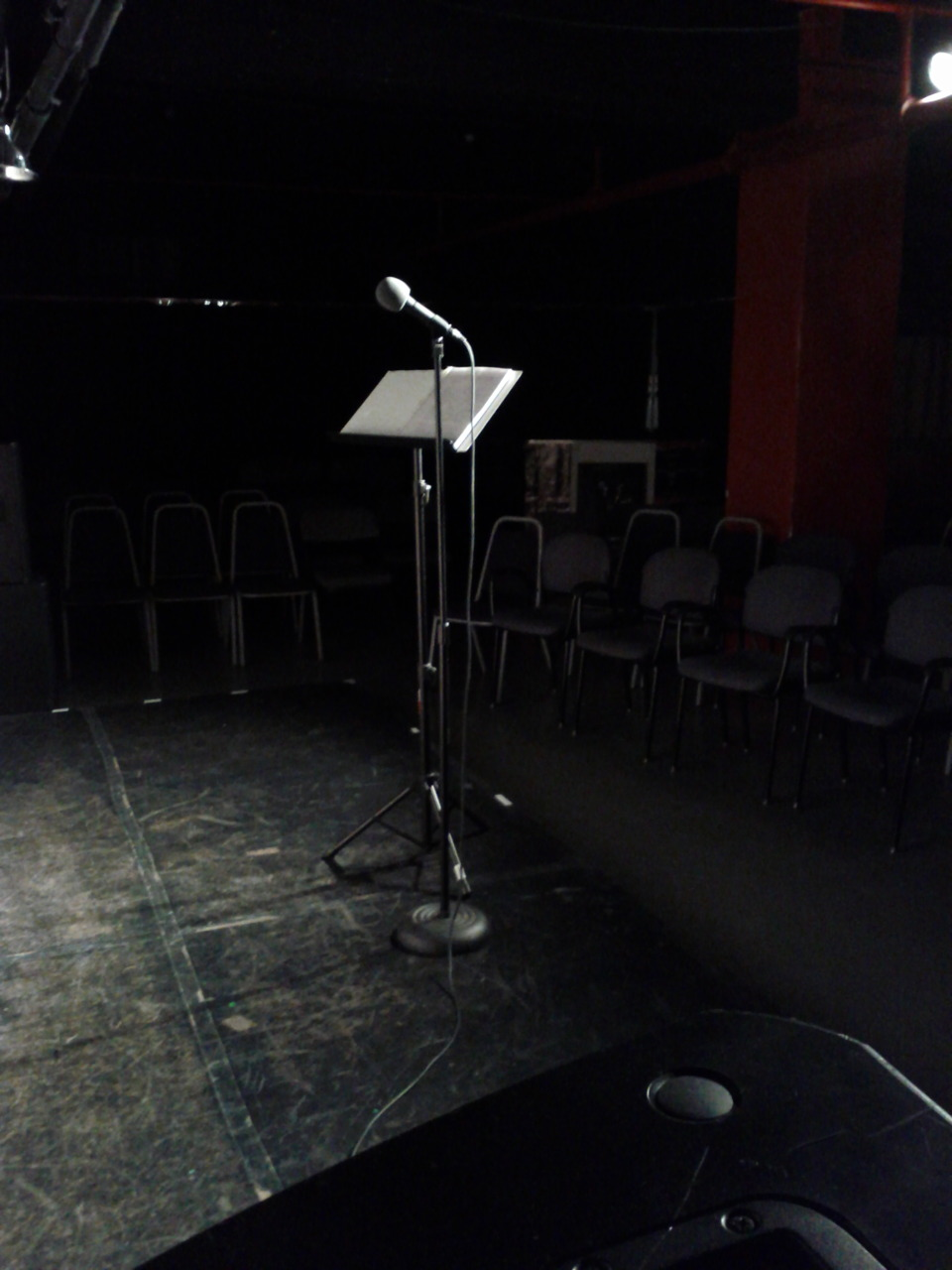 Moments before the arrival of our sold-out house on Saturday night.  Thanks so much to everyone who came out!  The show continues at thetaxitapes.com.