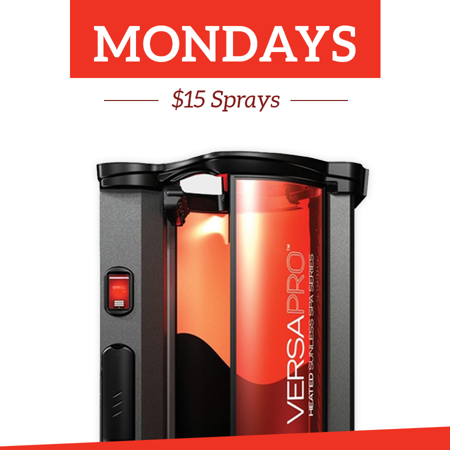 Monday Special $15 Spray Tans