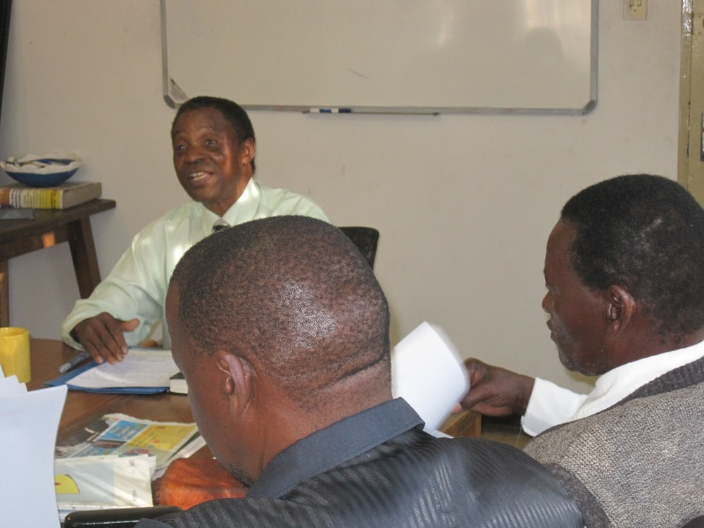 Fr. James Amanze in class