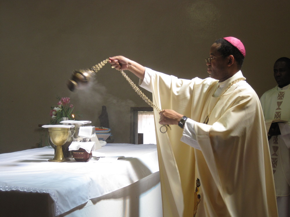 Bishop Trevor, censing the altar at St. Paul's, Molepolole