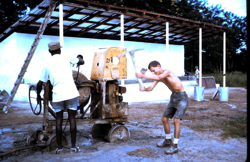At work during Crossroads 1964 in the Gambia